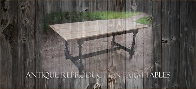 antique reproduction farm tables home page image